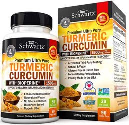 Turmeric Curcumin with BioPerine 1500mg – Natural Joint & Healthy Inflammatory Support with 95% Standardized Curcuminoids for Potency & Absorption – Non-GMO, Gluten Free Capsules with Black Pepper